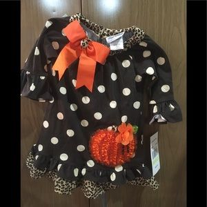Girls Thanksgiving pumpkin dress by rare editions